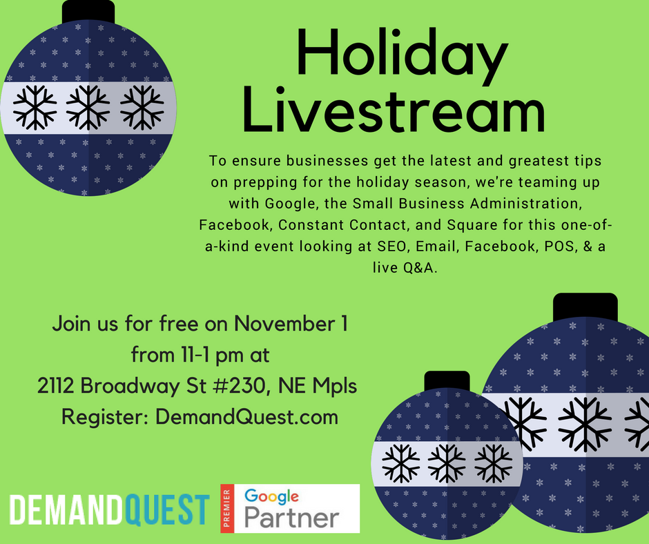 Free Holiday Livestream for Small Businesses November 1